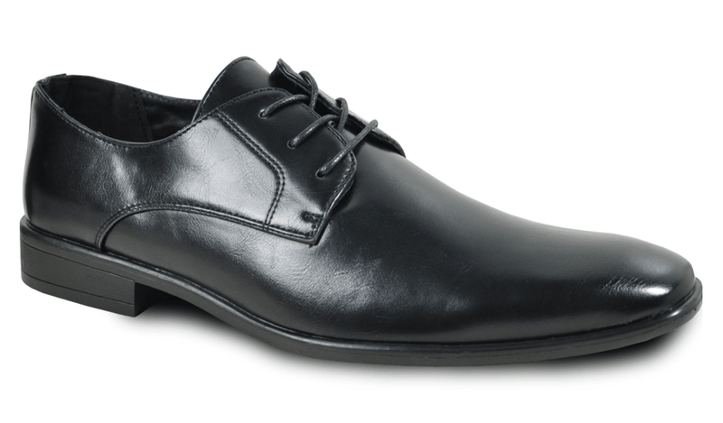 Bravo King-1 Men's Leather Dress Oxford in Black