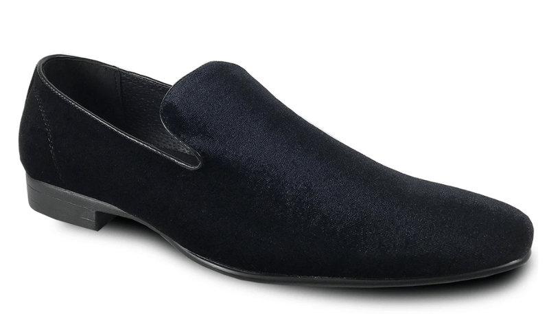 Bravo Klein-7 Men's Velvet Loafer in Black Velvet