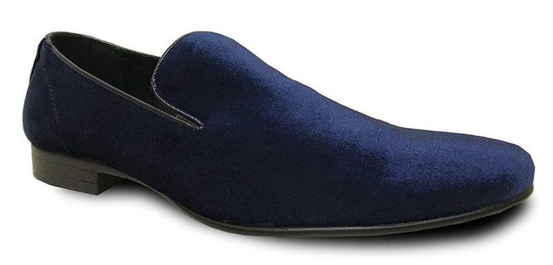 Bravo Klein-7 Men's Velvet Loafer in Blue Velvet