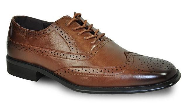Bravo Milano-1 Men's Classic Wingtip Oxford in Brown