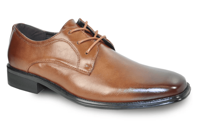 Bravo Milano-4 Men's Dress Oxford in Brown