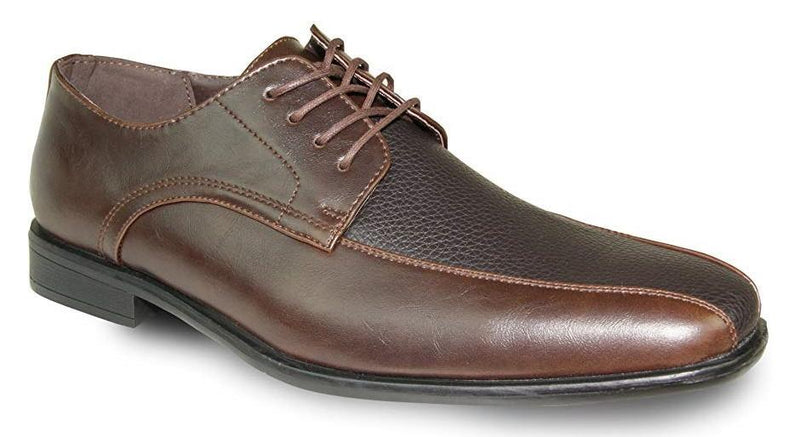 Bravo New Kelly-3 Moc Toe Men's Dress Oxford in Brown