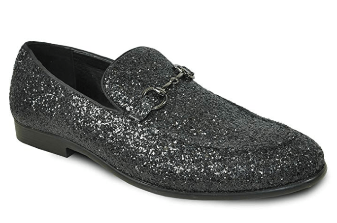 Bravo Men's Modern Dress Bit Loafer in Black. Available in men's shoe sizes 7 - 16 medium.