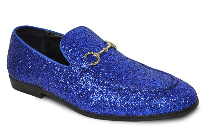 Bravo Men's Modern Dress Bit Loafer in Blue.