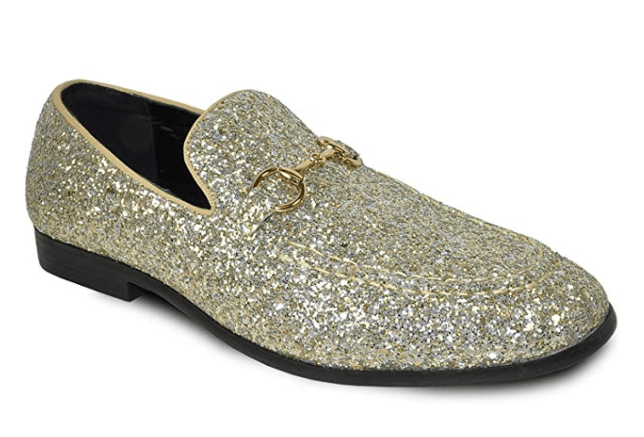 Bravo Men's Modern Dress Bit Loafer in Gold
