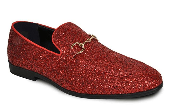 Bravo Men's Modern Dress Bit Loafer in Red