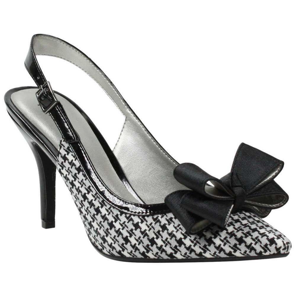 J Renee Cingia Black White Houndstooth