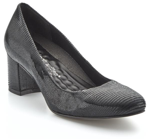 Walking Cradle Jessica Black Patent Lizard Print Leather