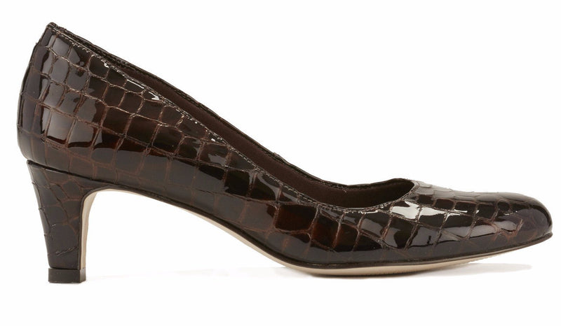 Walking Cradle Joy Brown Patent Croco