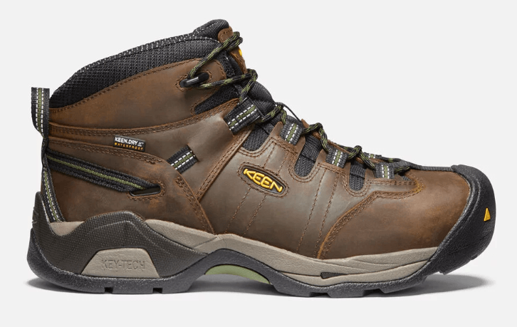 Keen Detroit XT Non-slip Waterproof Steel Toe Men's Boot in Brown/Bronze Green