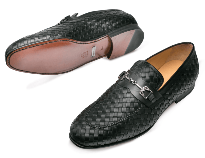 Mezlan Cerros Calfskin Loafer in Black