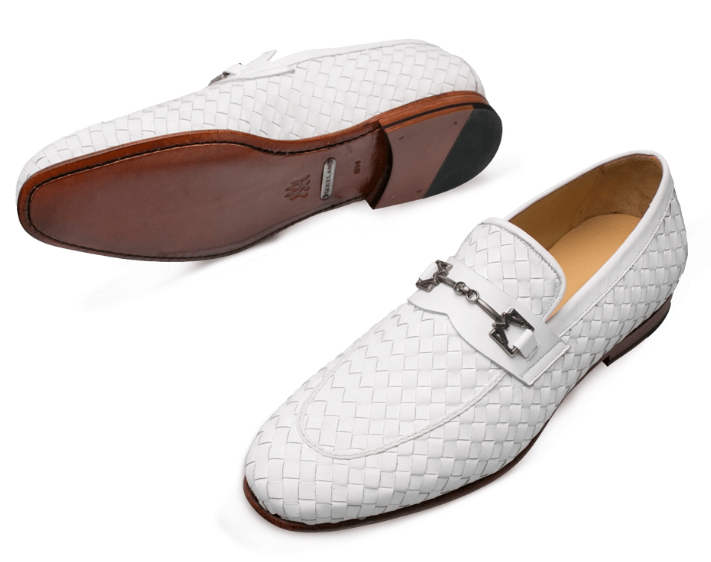 Mezlan Cerros Calskin Loafer in white