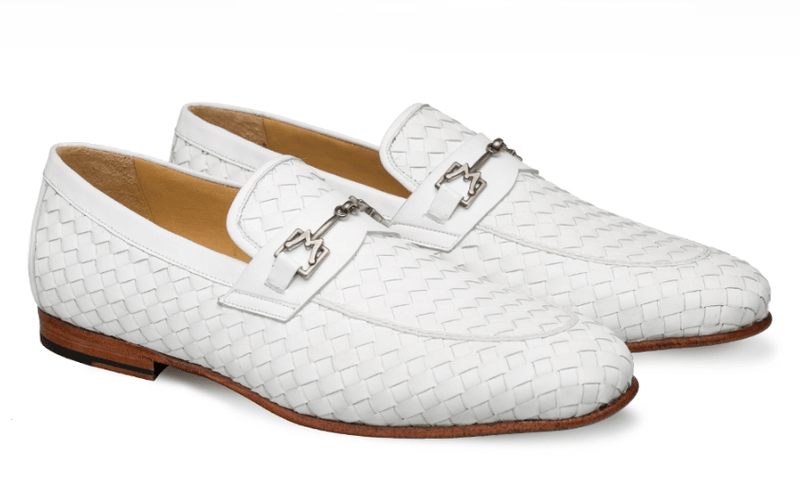 Mezlan Cerros Woven Calfskin Horsebit Loafer for Men
