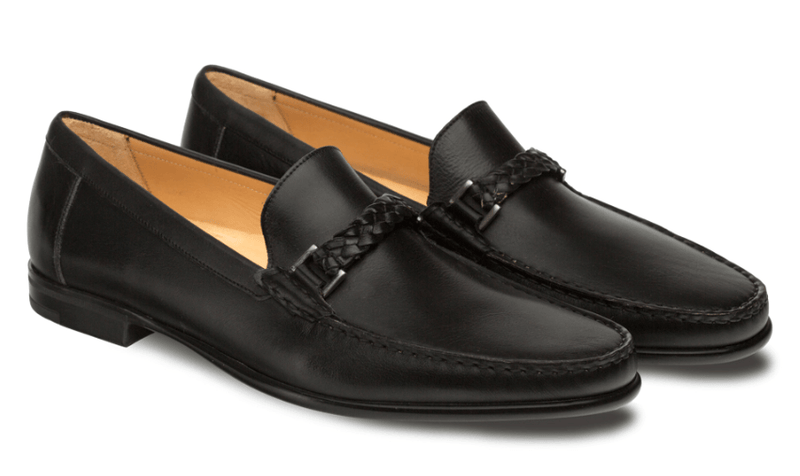 Mezlan Dorelli European Calfskin Moccasin in Black