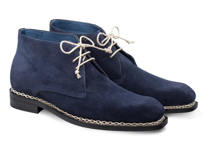 Mezlan Kassel 3 Eyelet English Suede Demi Chukka Men's Ankle Boot in