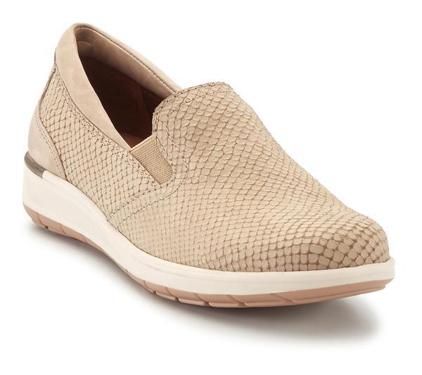 Walking Cradle Orleans Light Taupe Matte Snake Print/Nubuck