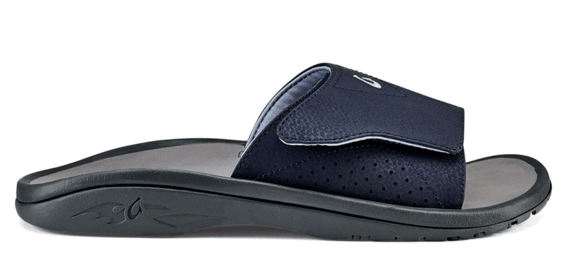 The Olukai Nalu Slide Men's Sandal in Trench Blue