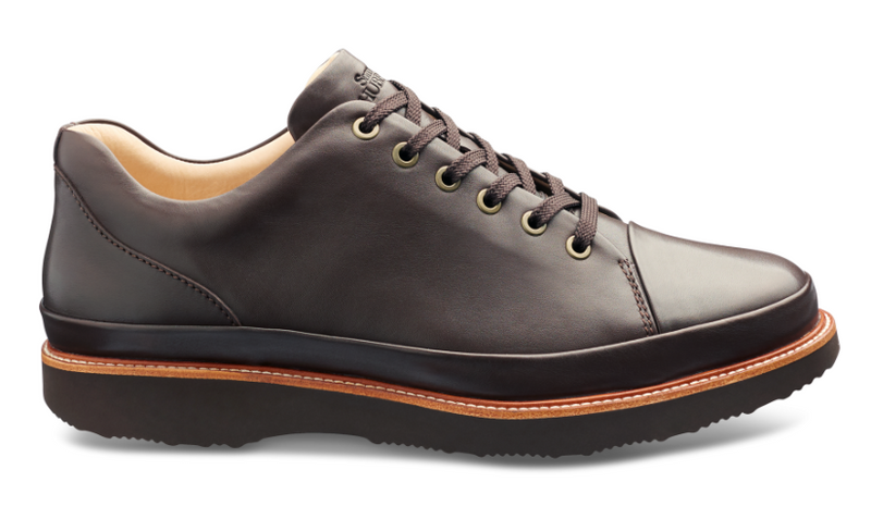 Samuel Hubbard Dressfast Men's Shoe in Brown Leather and Brown Sole