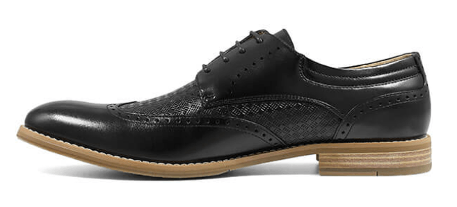 Stacy Adams Fallon Black Leather Wingtip Oxford
