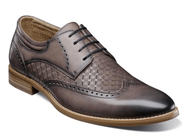 Stacy Adams Fallon Gray Wingtip Oxford Shoe