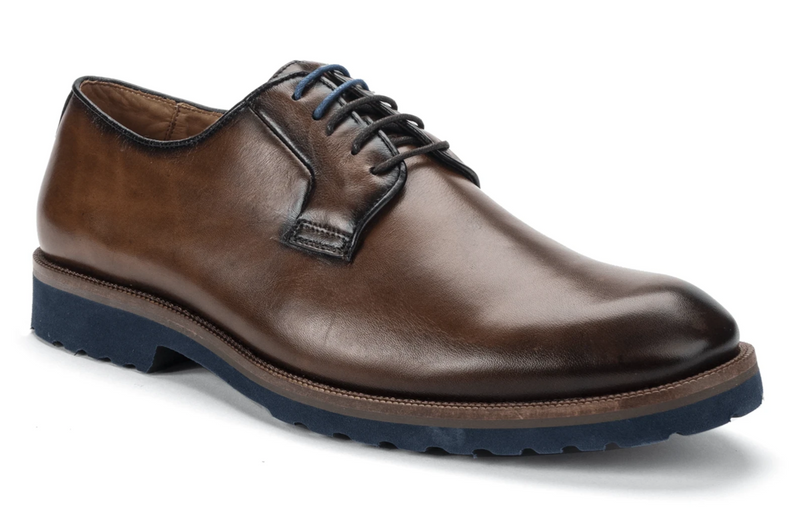 Belvedere Travis Mens Calf Leather Oxford in Antique Nut