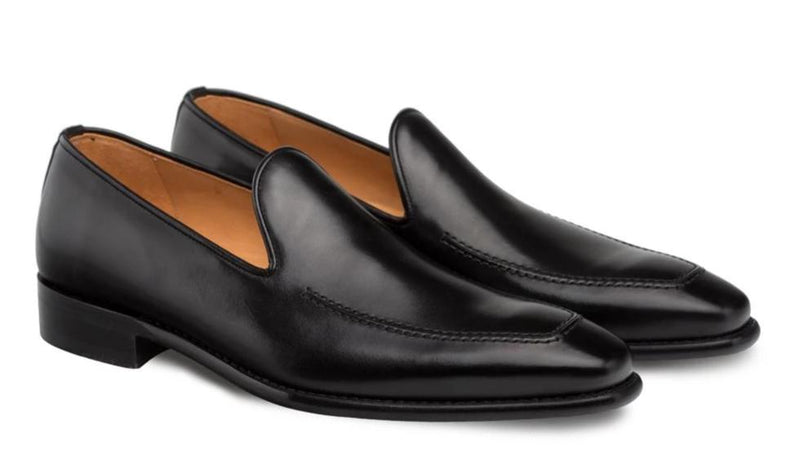 Mezlan Curtana Antiqued European Calfskin Men's Slip On Loafer in Black