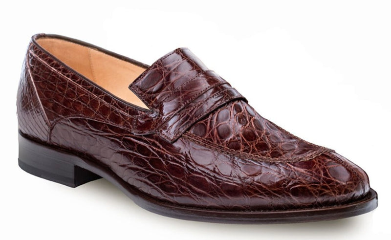 Mezlan Bixby Genuine Crocodile Men's Dress Penny Loafer