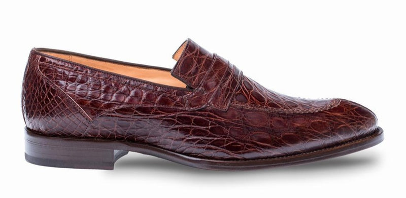 Mezlan Bixby Crocodile Penny Loafer