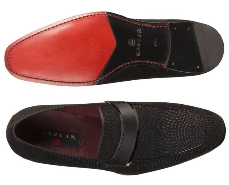 Capizzi Men's Italian dress loafer top and bottom view