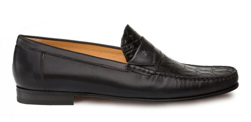 Mezlan Sica Classic Exotic Men's Dress Penny Moccasin in Black