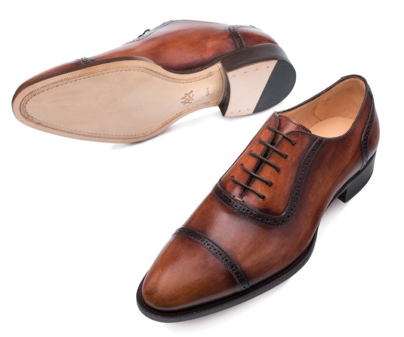 Mezlan Belgrade Men's Oxford Shoes in Cognac