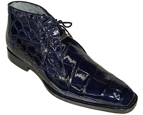 Belvedere Stefano Genuine Alligator Men's Boot in Navy