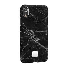 iPhone XR Case Black Marble