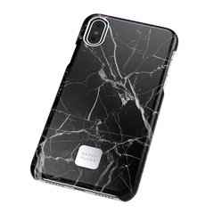 iPhone X Case Black Marble