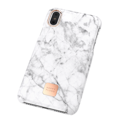 iPhone X Case White Marble