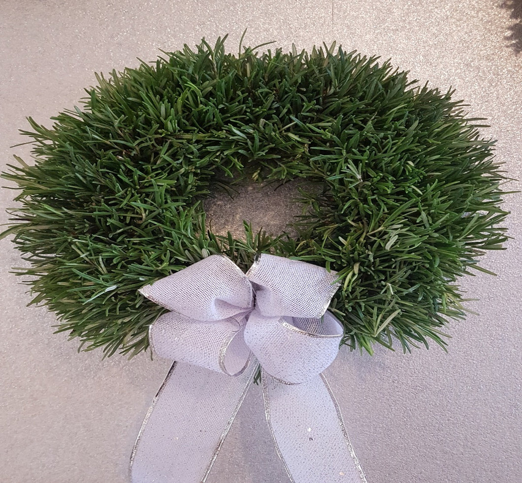 Rosemary Wreath, Door Wreath, Christmas, Christmas Wreath, White and Green Wreath, festive, Alderley Edge, Prestbury, Wilmslow, macclesfield Florist, Cheshire Florist, Etsy Shop, Order Online, Flower Delivery
