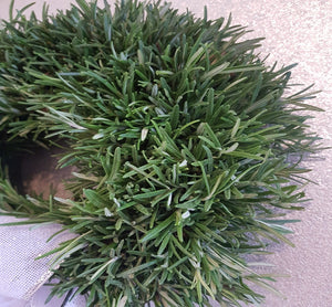 Country Chic's Fresh Rosemary Door Wreath with White Ribbon Bow. - Country Chic @ Alderley Edge-Flower Delivery Alderley Edge, Flower Delivery Macclesfield, Flower Delivery Mottram St Andrew, Flower Delivery Wilmslow, Flower Delivery Knutsford, Flowers, Wedding Flowers, Funeral Flowers, Prestbury Flowers, Wilmslow Flowers, Flowers Macclesfield, Flowers Wilmslow, Flowers in Congleton, Flowers in Biddulph, Chelford, National Flower Delivery, Biddulph Flowers, Flowers in Biddulph, Eaton Cheshire, Broken Cross, Henbury, Siddington, Gawsworth, Buglawton, West Heath, Astbury, Marton, Gillow Heath, Biddulph Moor, Mow Cop