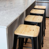 Heritage Metal Bar Stool