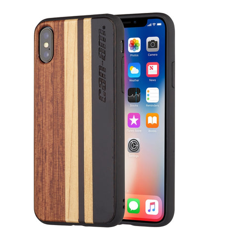 Wood Case Compatible with iPhone X