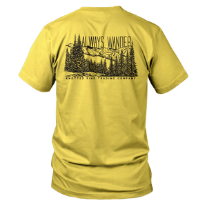 Always Wander Short Sleeve - Yellow