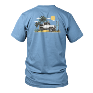 Beach Cruiser Short Sleeve - Flo Blue