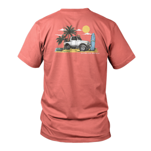 Beach Cruiser Short Sleeve - Salmon