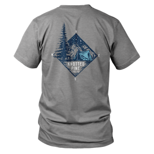 Compass Tent Short Sleeve-Heather Grey