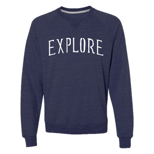 Explore Crew Neck - Heather Navy