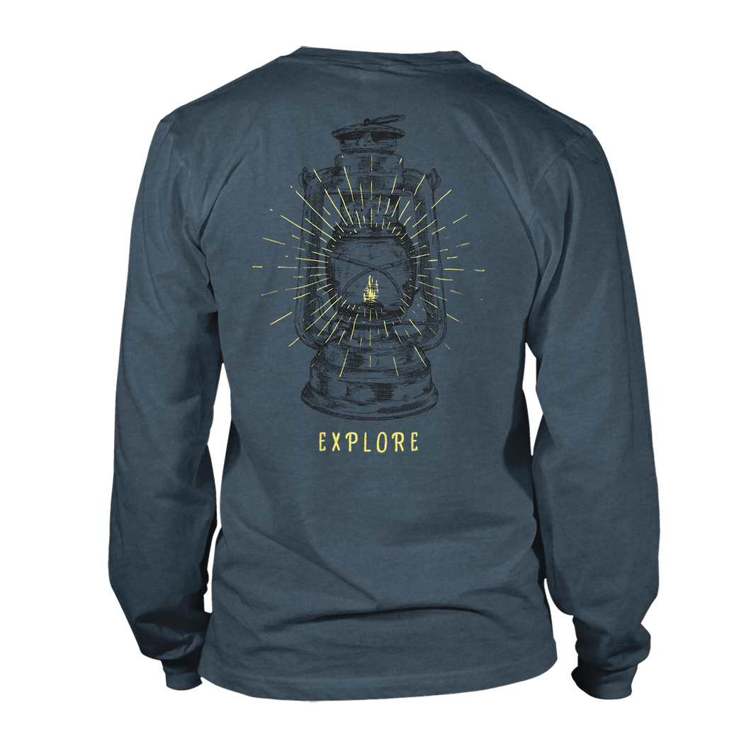 Explore Lantern Long Sleeve - Deep Teal Heather
