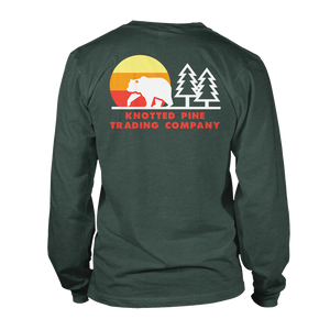 Retro Bear Long Sleeve - Heather Forest