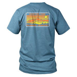 Retro Range Short Sleeve - Heather Blue
