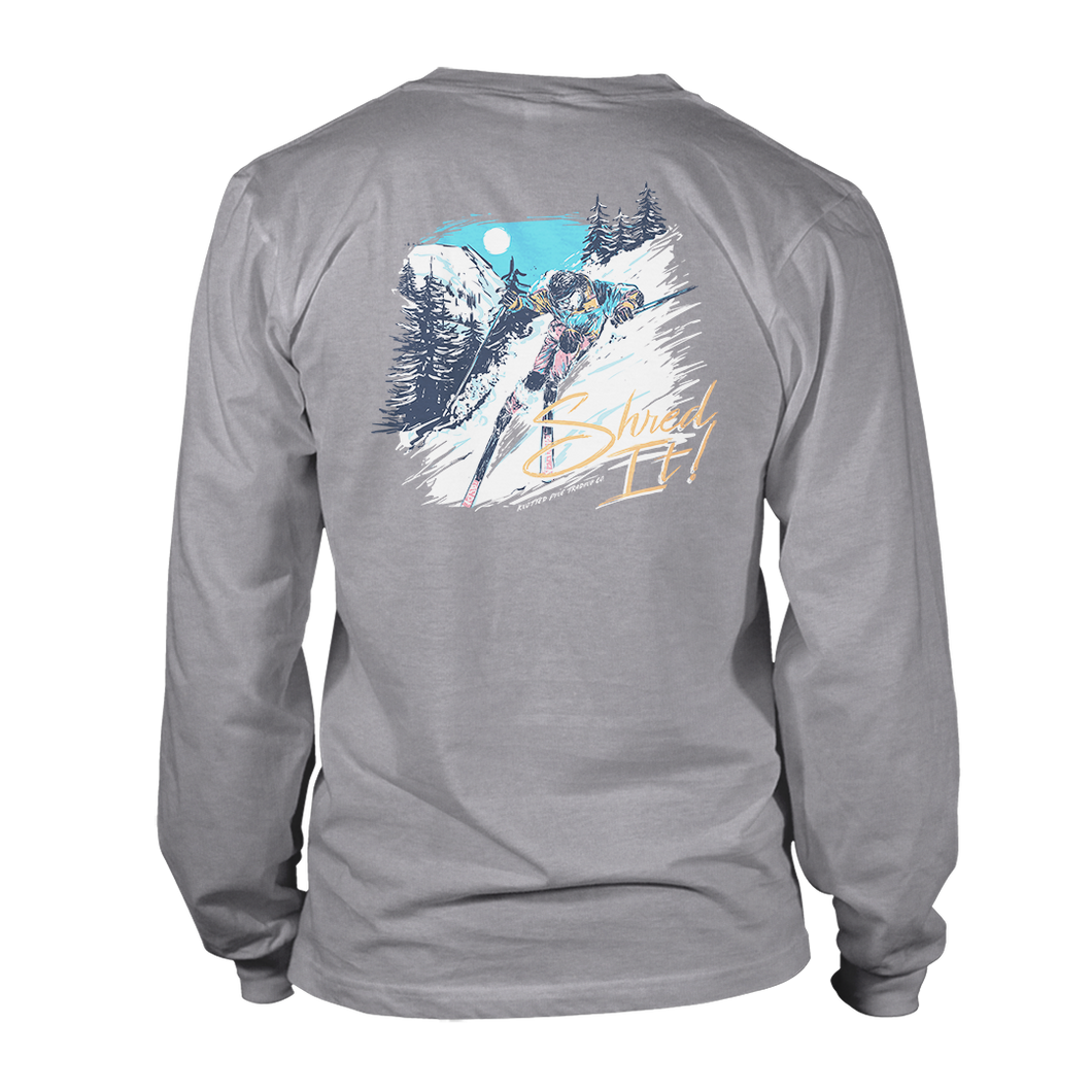 Shred it Long Sleeve - Athletic Heather Grey
