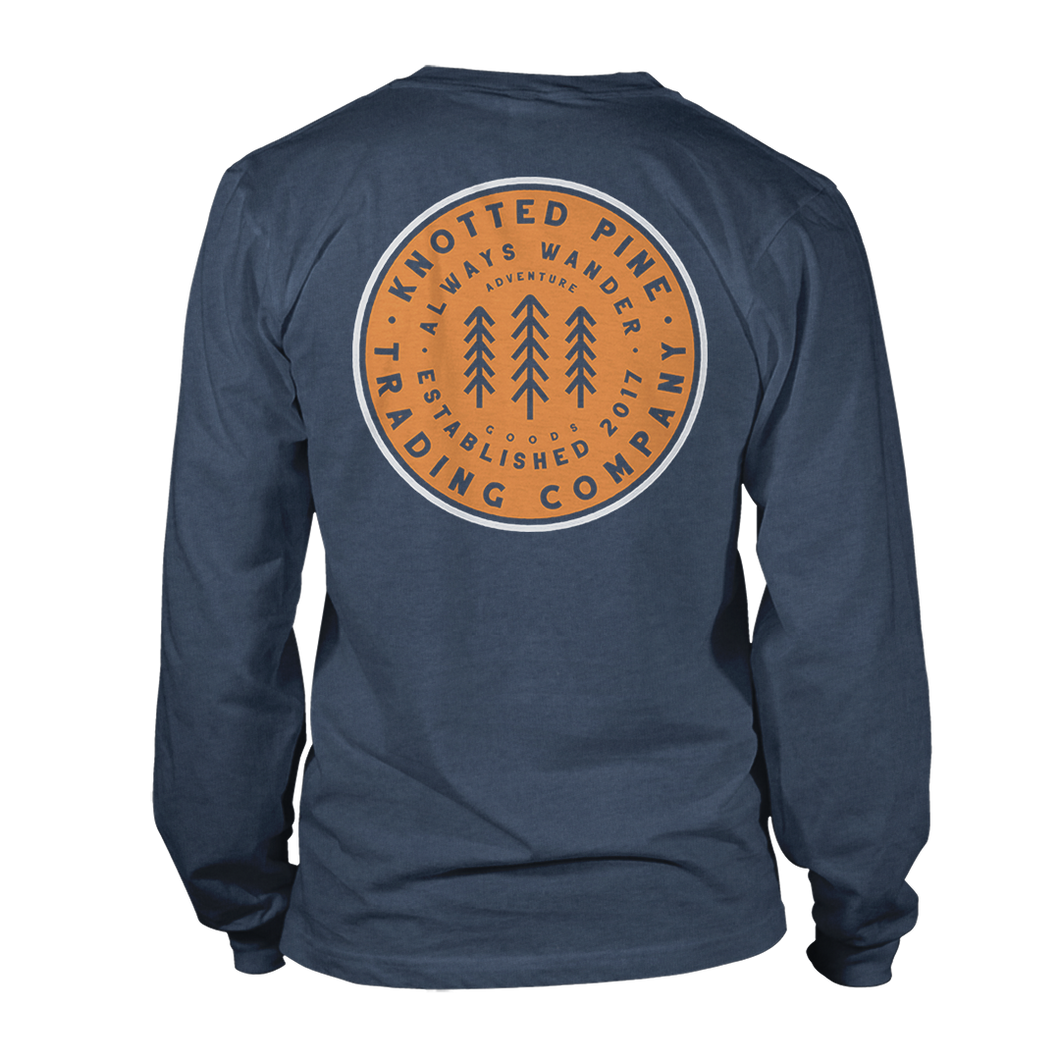 Word Patch Long Sleeve - Heather Navy