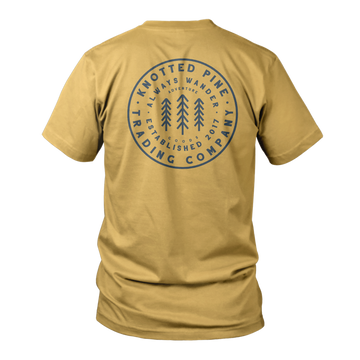 Word Patch Short Sleeve - Mustard